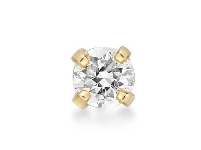 Lavari 14k Gold 2 4mm 05 Carat Genuine Diamond Nose Ring Straight Stud 22 Gauge Factumevent Com