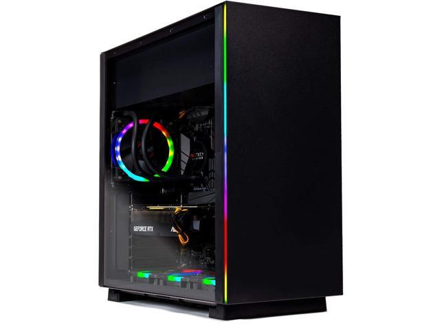 SkyTech [RTX 2070] Oracle X – VR Ready Gaming Computer PC Desktop – Ryzen 7 2700X, 240GB SSD, 1TB HDD, RTX 2070 8GB, 120mm Liquid Cool, 16GB DDR4, Window 10 Home – RGB Fans