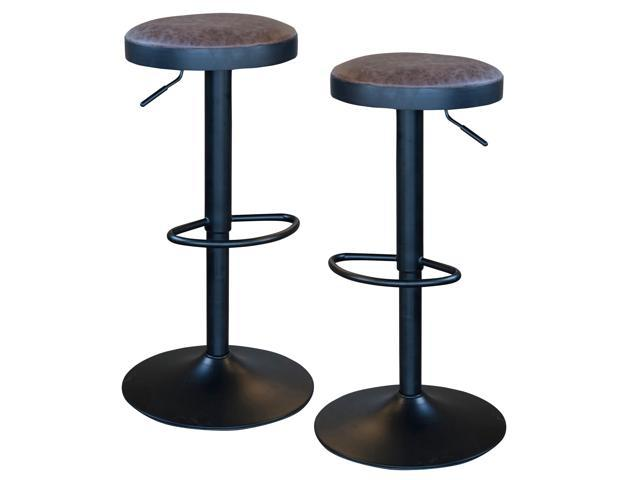 Fine Amerihome Bsbnlset Classic Brown Faux Leather Bar Stool Set Onthecornerstone Fun Painted Chair Ideas Images Onthecornerstoneorg