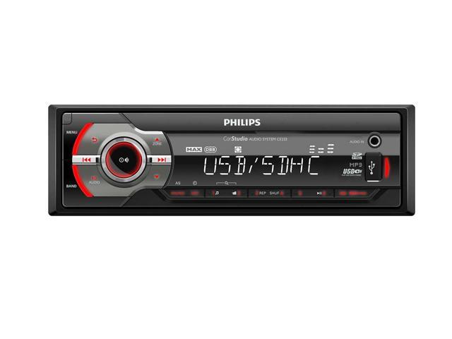 philips ce233 car stereo audio system with anti theft panel and anti rh newegg com Philips Electronics Manuals Philips Electronics Manuals