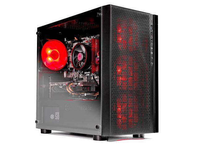 SkyTech [RX580 Version] Blaze VR Ready RGB Gaming Computer Desktop PC - Ryzen 1200 3.1GHz Quad-Core, AMD RX 580 4GB, 8GB DDR4 2400, 1TB HDD, Wi-Fi, Windows 10 Home 64-bit