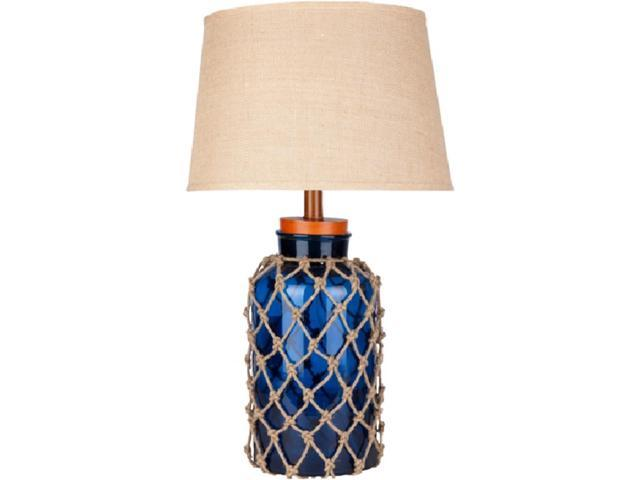 30 Quot Nautical Net Cobalt Blue Table Lamp With Modified Bell
