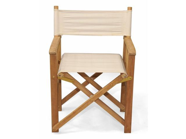 Super Set Of 2 Natural Teak Directors Chairs With Canvas Tan Colored Sunbrella Fabric 35 Newegg Com Unemploymentrelief Wooden Chair Designs For Living Room Unemploymentrelieforg