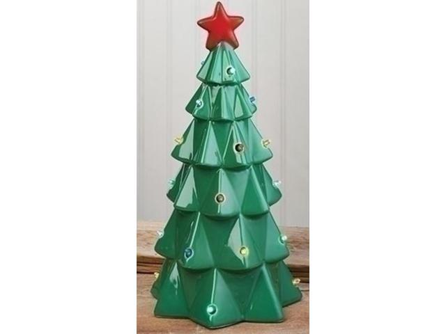 13 led lighted battery operated christmas tree with bright red star - Battery Operated Christmas Trees