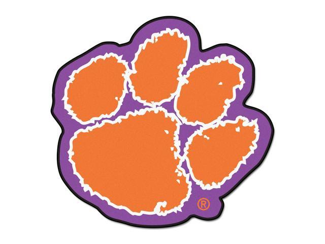 NCAA Clemson University Tigers Mascot Novelty Logo Shaped Area Rug