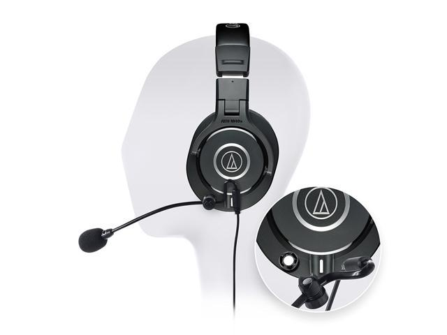 Audio-Technica ATH-M40x Professional Studio Headphone -INCLUDES- Antlion  Audio ModMic Attachable Boom Microphone - Noise Cancelling w/ Mute Switch  AND