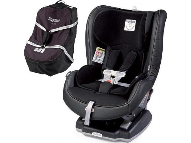 Peg Perego Primo Viaggio Convertible Car Seat Licorice With Travel Bag