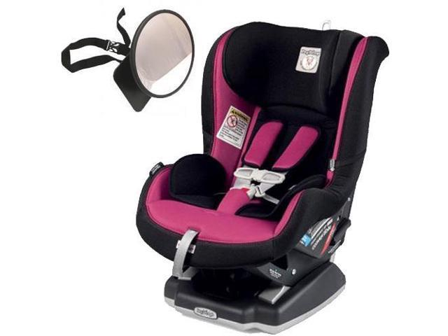 Peg Perego Primo Viaggio Convertible Car Seat With Back Mirror Fleur