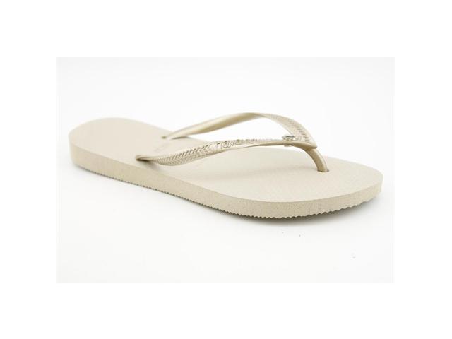 dd6ce375c Havaianas Slim Crystal Glamour SW Women US 11 Bronze Flip Flop Sandal