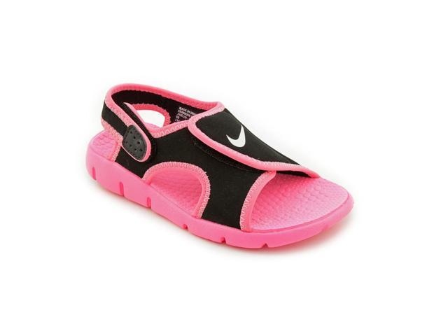 7f2f70f12434 Nike Sunray Adjust 4 Youth Girls Size 2 Black Open Toe Slingback Sandals  Shoes