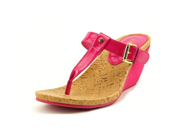 cb3f97bf0912 Lauren Ralph Lauren Roseanne Womens Size 7.5 Pink Open Toe Wedge Sandals  Shoes