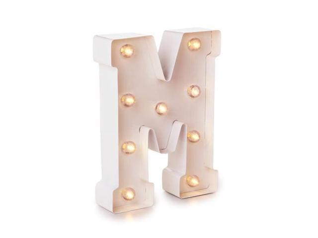 Darice 02988 5915 790 White Painted Lighted Letters And Symbols