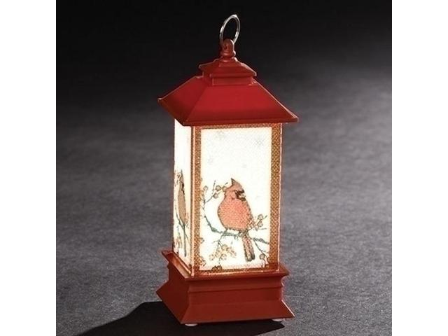 """5"""" Red Battery Operated LED Cardinal Lantern"""
