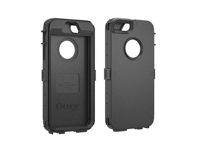 quality design 6af13 9a1c3 OtterBox Defender Series Black Solid Plastic Shell Case for iPhone 5/5S  78-35400 - Newegg.com