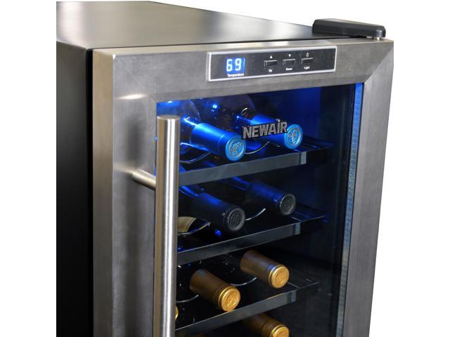 Newair Aw 121e 12 Bottle Countertop Thermoelectric Stainless Steel Wine Cooler