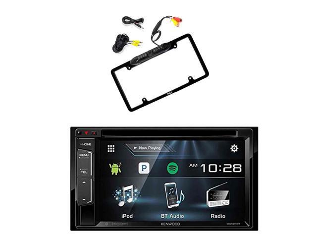 Kenwood DDX24BT Multimedia Bluetooth Receiver with Pyle PLCM16BP Car ...