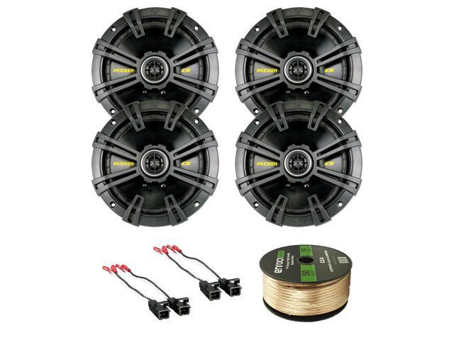 Car Speaker Set Combo of 8 x Kicker 40CS674 6-3/4\