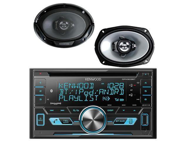 2Din Kenwood Bluetooth iPod CD USB Radio, 2 Kenwood 6x9