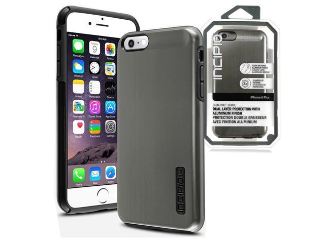 new arrival 6160e 07901 Incipio DualPro Shine Gunmetal/Black Case for iPhone 6 Large 5.5in ...