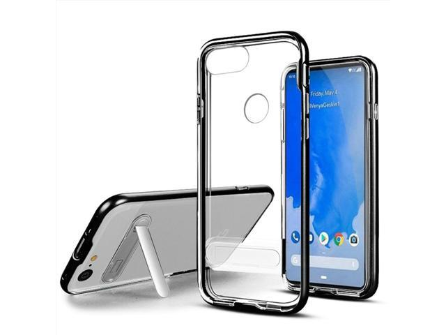 brand new 6ce90 b33e0 Insten Vitreous Stand Hard Snap-in Case Cover For Google Pixel 3 XL,  Clear/Black - Newegg.com