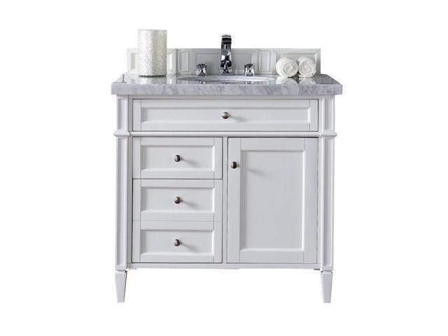 "James Martin Brittany 36"" Single Bathroom Vanity in White ..."