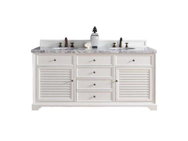 Stupendous James Martin Savannah 72 Double Bathroom Vanity In White 3Cm Shadow Gray Newegg Com Home Remodeling Inspirations Cosmcuboardxyz