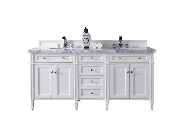 Groovy James Martin Brittany 72 Double Bathroom Vanity In White 3Cm Shadow Gray Newegg Com Interior Design Ideas Inesswwsoteloinfo