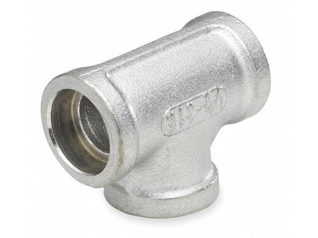 304 Stainless Steel Tee, Socket Weld, 1-1/2