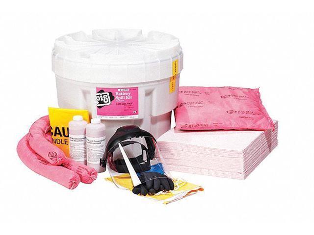 Spill Kit Neutralizes Battery Acid Granular Pads