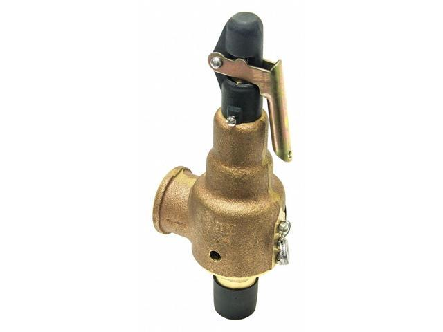 Kunkle Valve Bronze Safety Relief Valve, MNPT Inlet Type, FNPT Outlet Type