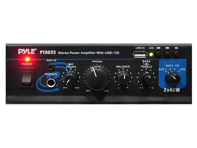 80-Watt Mini Stereo Power Amplifier with USB - Newegg com