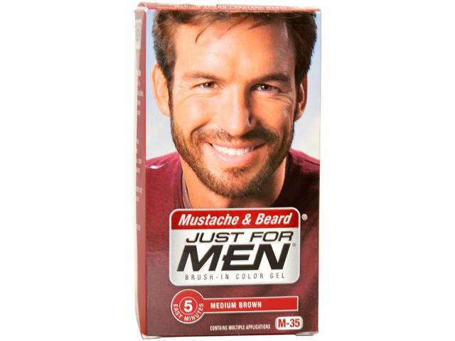 Brush-In Color Gel Mustache & Beard Medium Brown # M-35 by Just For ...