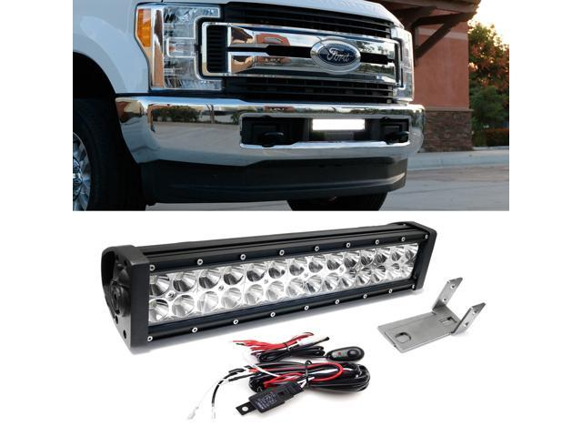 Ijdmtoy Complete Lower Bumper Grille Mount High Power Led Light Bar W Mounting Bracket