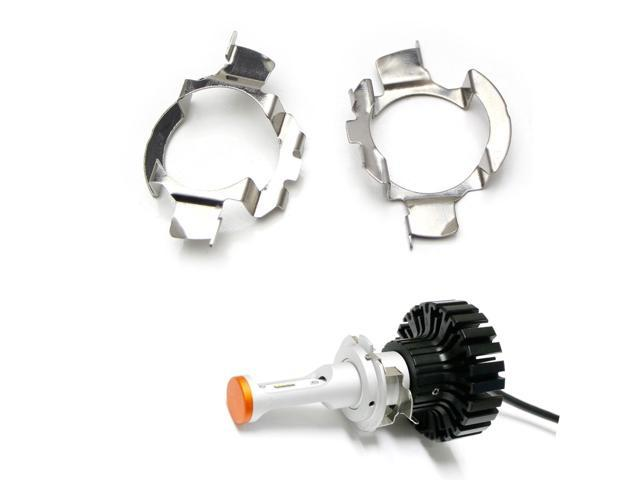 iJDMTOY (2) H7 LED Headlight Bulbs Adapters Holders Retainers For Audi BMW  Mercedes-Benz Volkswagen etc (Low Beam) - Newegg com