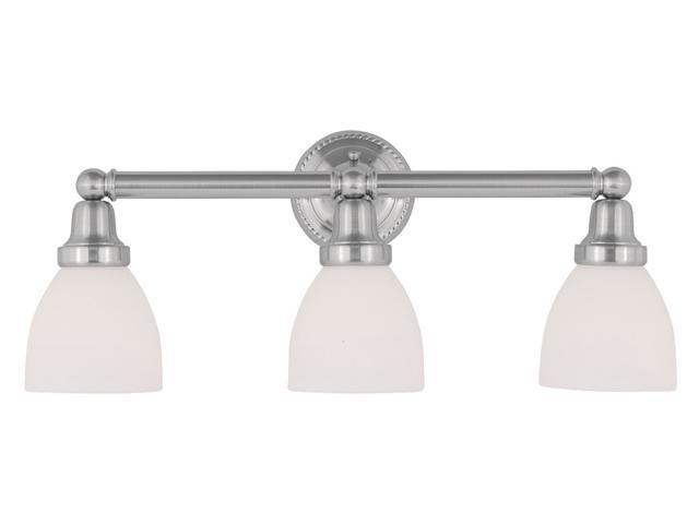 Livex 2 Light Bathroom Vanity Lighting Fixture Brushed: Livex Lighting Classic Bath Light In Brushed Nickel