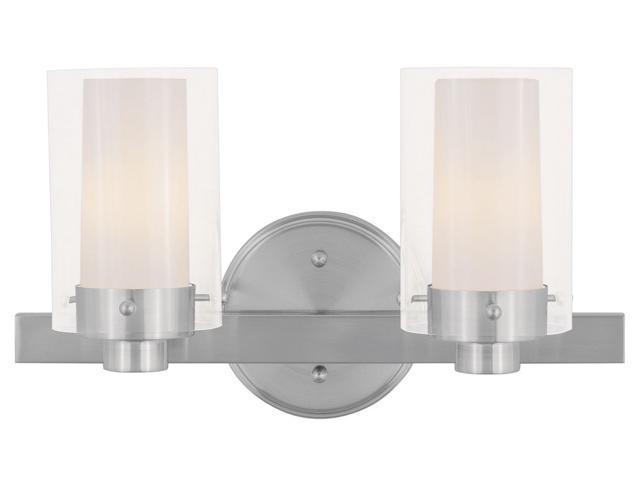 Livex Oldwick Modern Brushed Nickel 3 Light Bathroom: Livex Lighting Manhattan Bath Light In Brushed Nickel