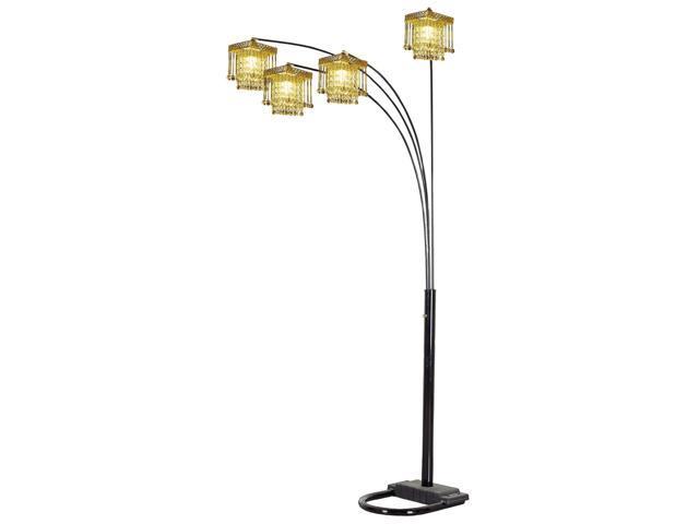 Ore International 6968bk 5 Arms Arch Floor Lamp Black Newegg Com