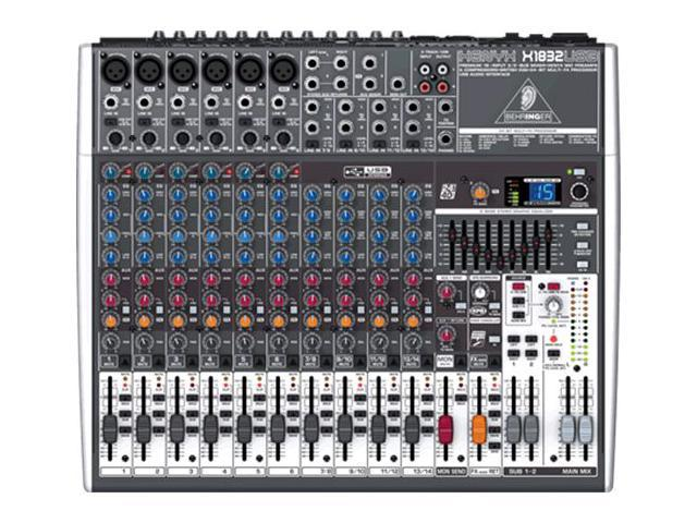 behringer x1832usb 18 ch usb mixer interface w fx pa or recording mixer with computer io. Black Bedroom Furniture Sets. Home Design Ideas