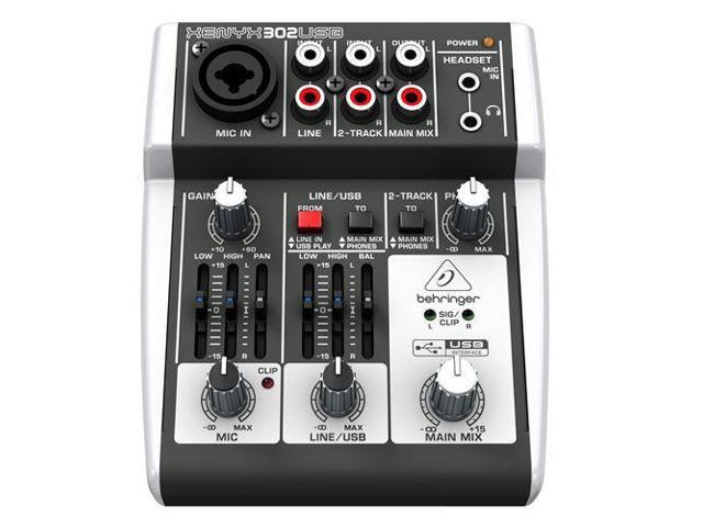 behringer xenyx 302usb 5 input mixer with usb io pa or recording mixer with computer io. Black Bedroom Furniture Sets. Home Design Ideas