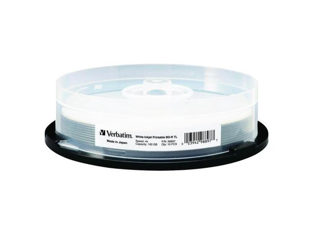 fe07aff2a Verbatim Blu-ray Recordable Media - BD-R - 4x - 100 GB - 10 Pack Spindle