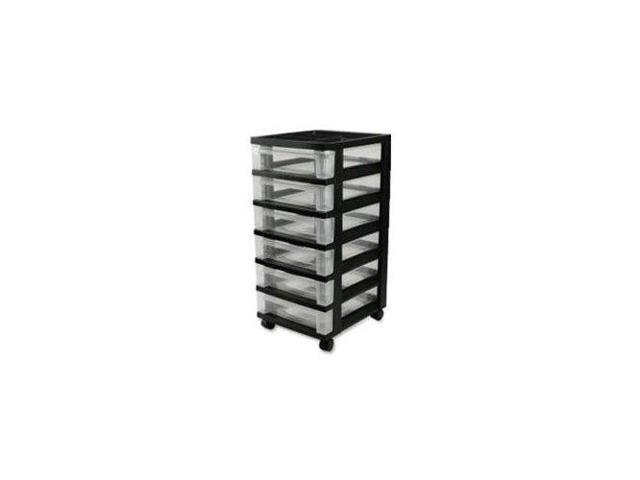 6-Drawer Rolling Cart With Organizer Top