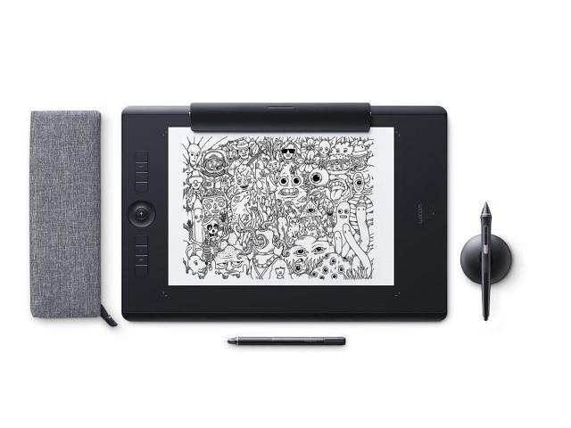 Wacom Intuos Pro Paper Edition digital graphic drawing tablet for Mac or  PC, Large (PTH860P), NEW MODEL - Newegg com