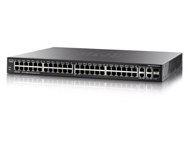 Cisco SG350-52 50-Port Gigabit Managed Switch w/2 Combo SFP Ports