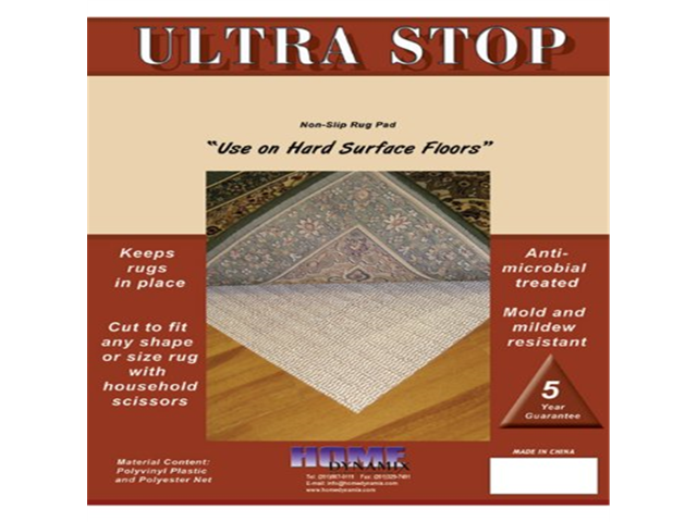 Stop 5 Feet 10 Inch Round Rug Pad