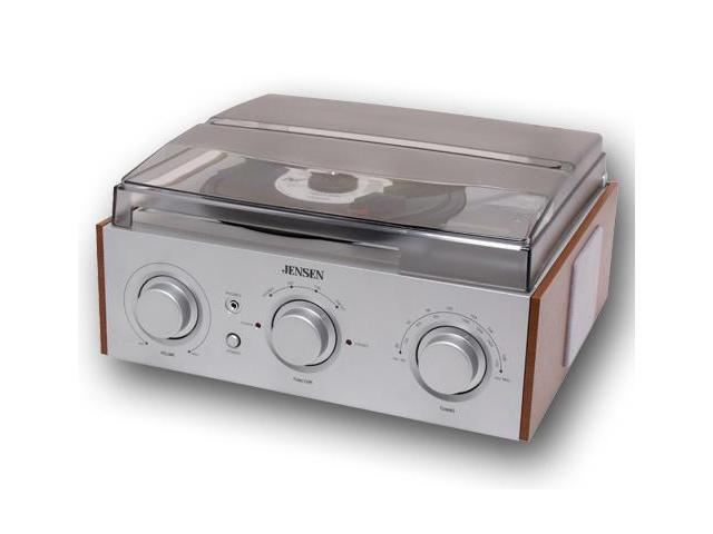 JENSEN 3 Speed Stereo Turntable With AM/FM Stereo Radio   JTA 220