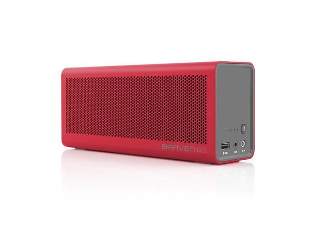 Braven 805 Portable Wireless Bluetooth Speaker with Built-In Power Bank  Charger - Red/Gray - Newegg com