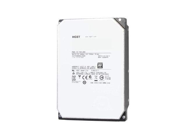 "Refurbished: HGST Ultrastar He8 8TB 3.5"" SATA Hard Drive 7200 RPM 128MB - HUH728080ALE600"
