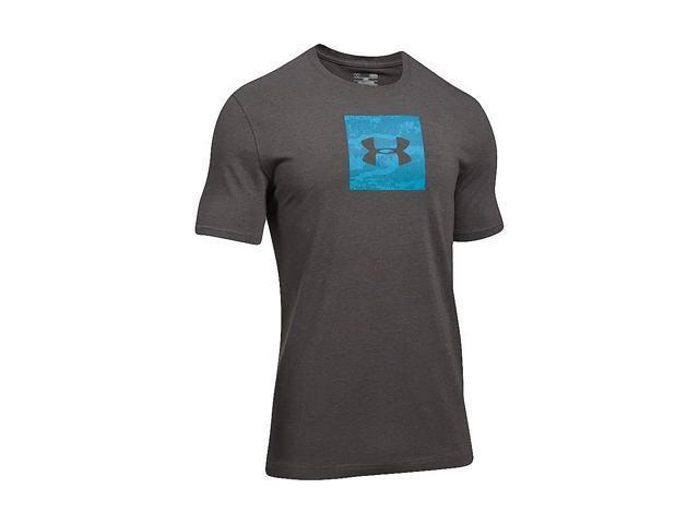 4acf22f338b Under Armour Men s UA Camo Boxed Logo SS Tee Charcoal Blue Medium