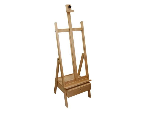 US Art Supply 85 Inch Studio H-Frame Wood Easel with Storage Drawer ...