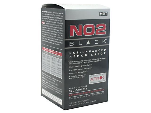 NO2 Black NOS Enhanced Hemodilator 300 Caplets From MRI